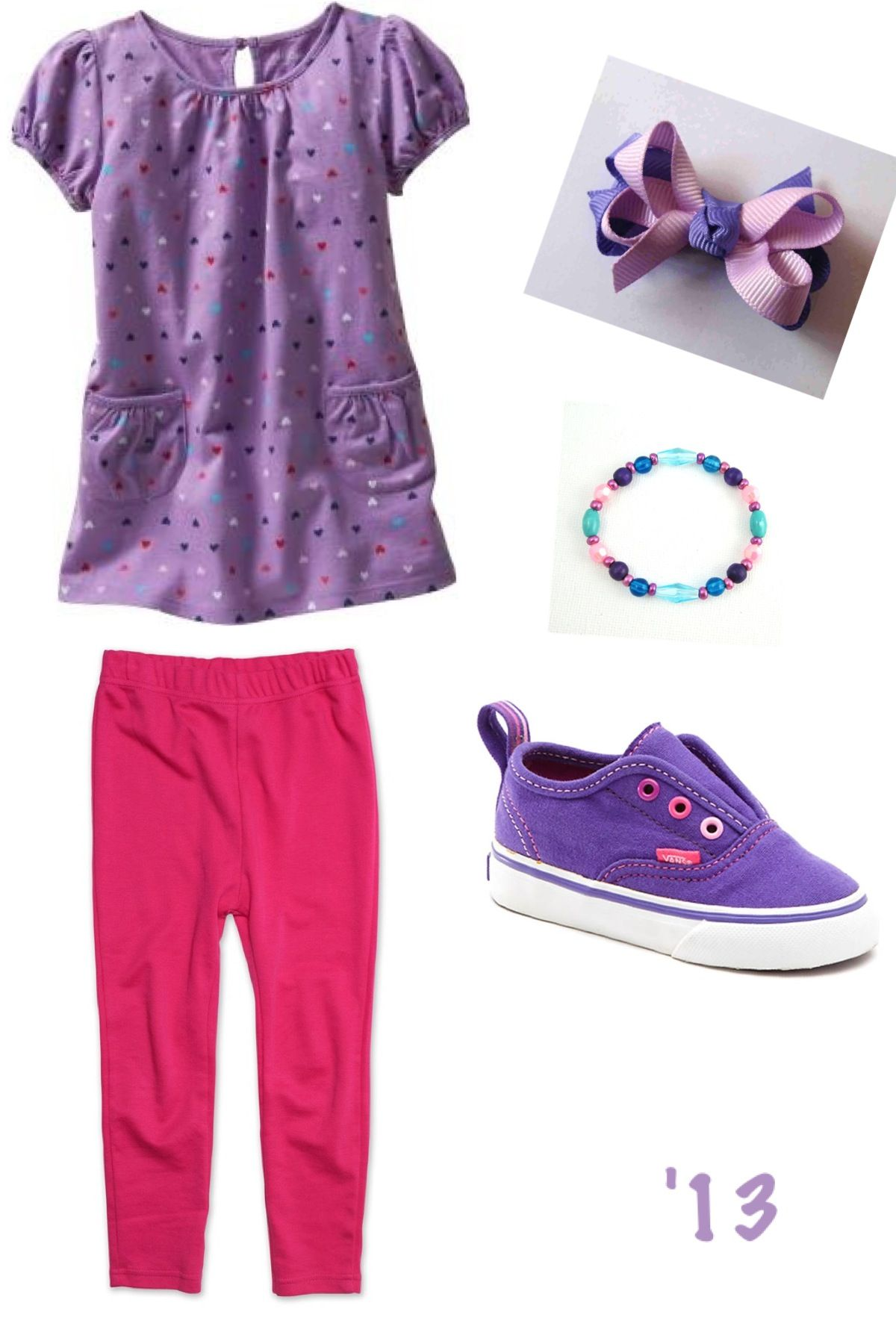 Adorable toddler girl tunic combo! #purple #pink #stylish #cute #trendy #fashionable #neat #classy #princess #flowergirl