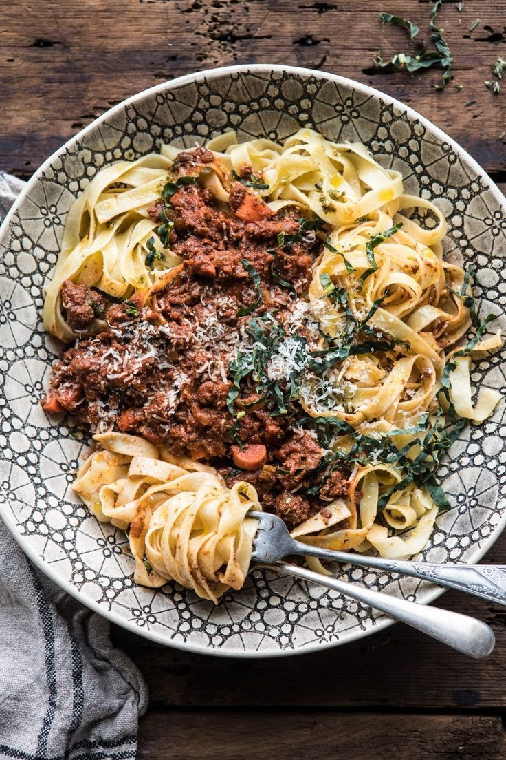 Photo of Slow Cooker Vodka Bolognese Pasta. – Half Baked Harvest
