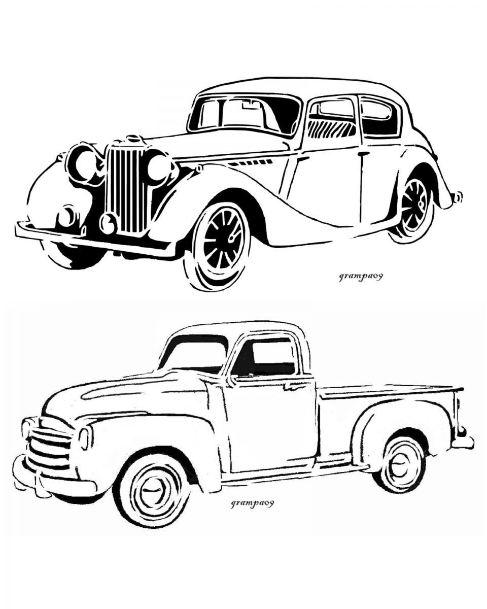 Coloring pictures of cars and trucks - Cars And Trucksold