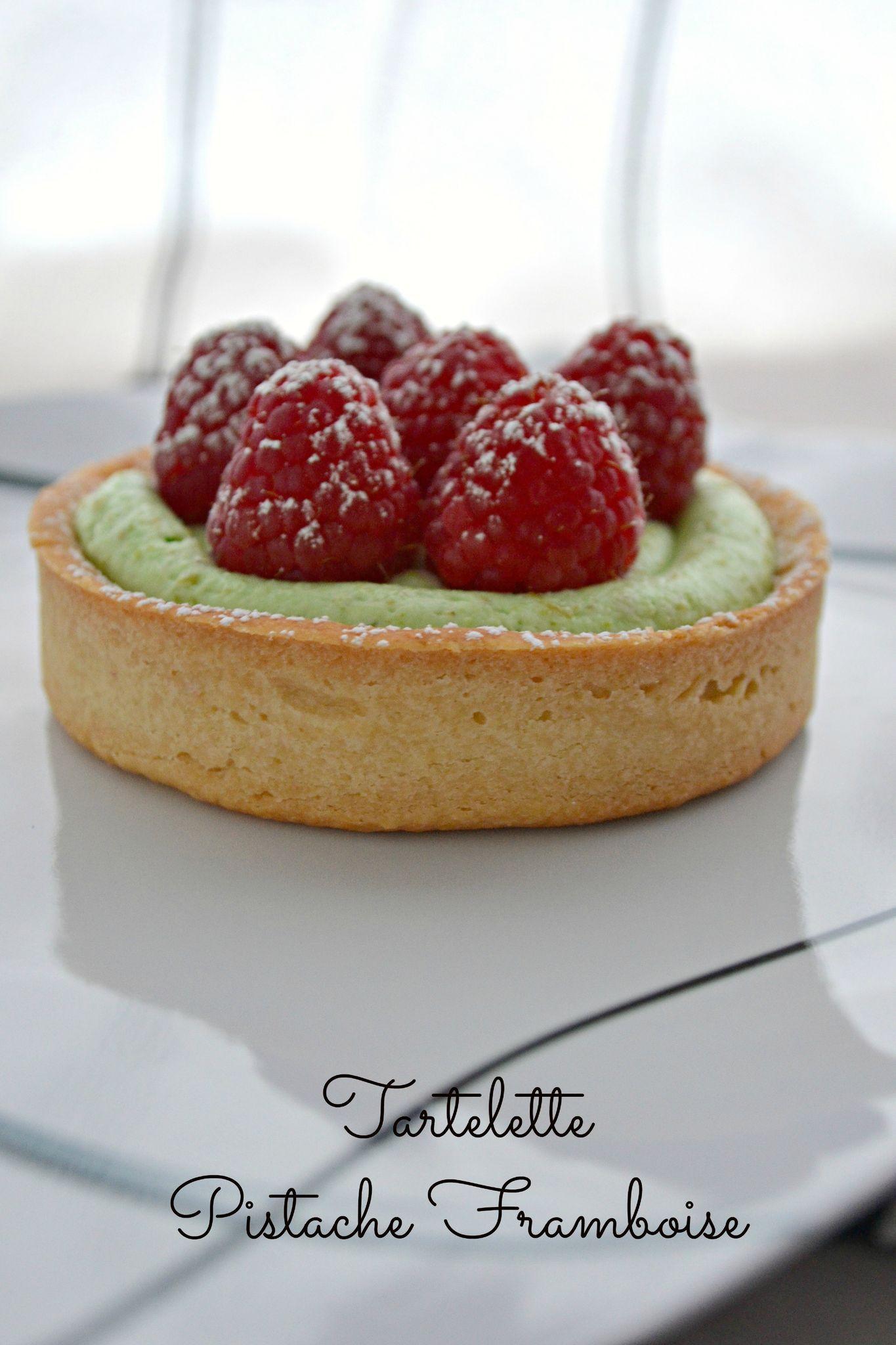 Tartelette pistache framboise Patisserie Pinterest