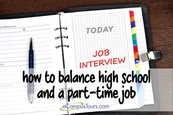 how to balance high school and a part-time job #highschool - high school counselor resume