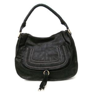 G.T.G Black Faux Leather Handbag. $49.99 #designer inspired
