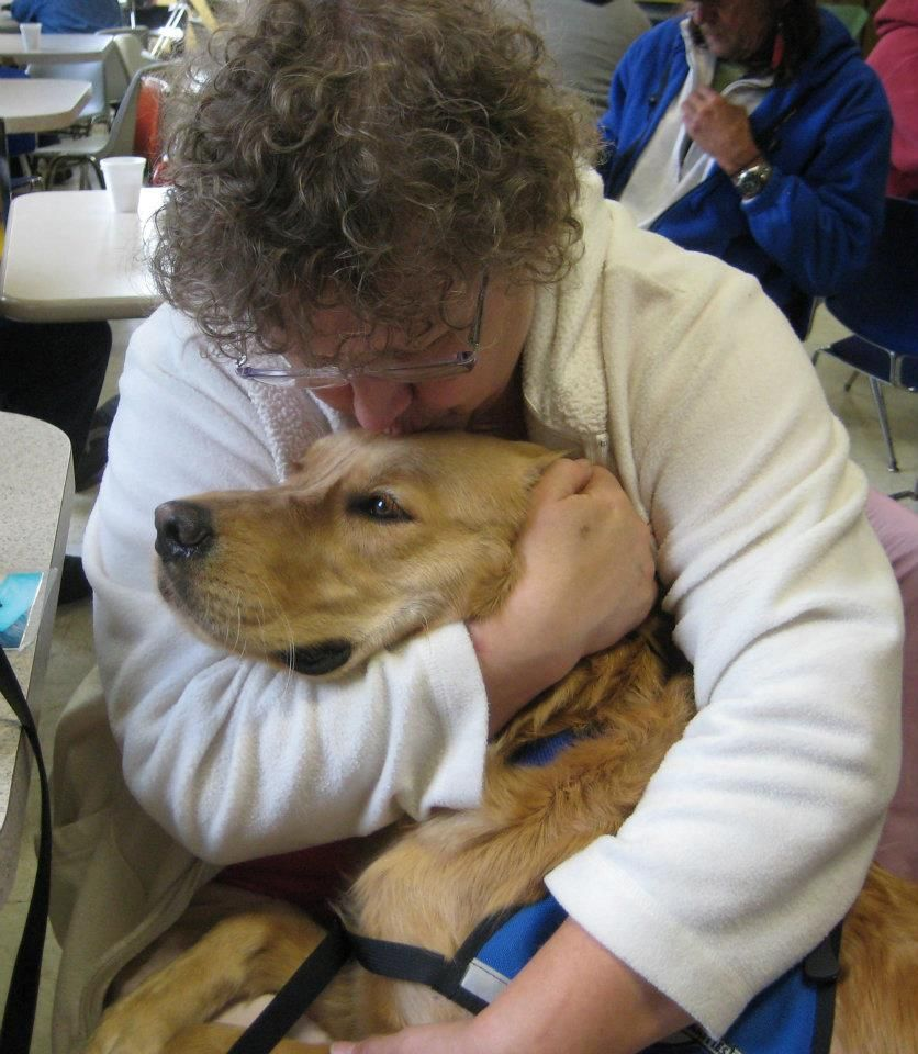 Kye Comfort Dog With A Friend At The Carpenter S Place In Rockford