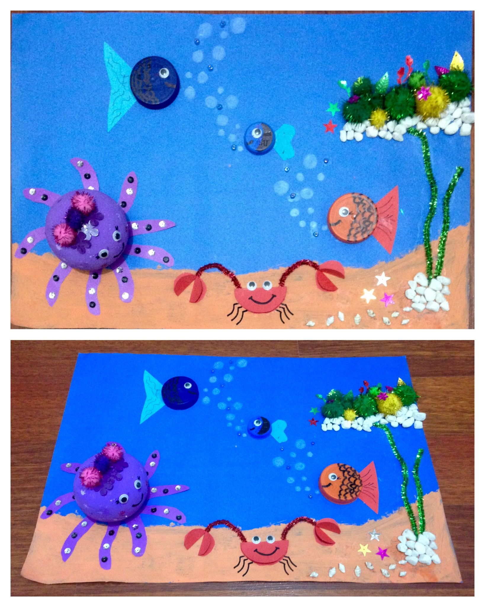 Okuloncesi Sanat Etkinlik Denizalti Ocean Sanat Etkinlikleri