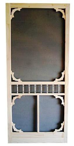 Colonial Oval Wood Swinging Screen Door 36 W X 80 H At Menards