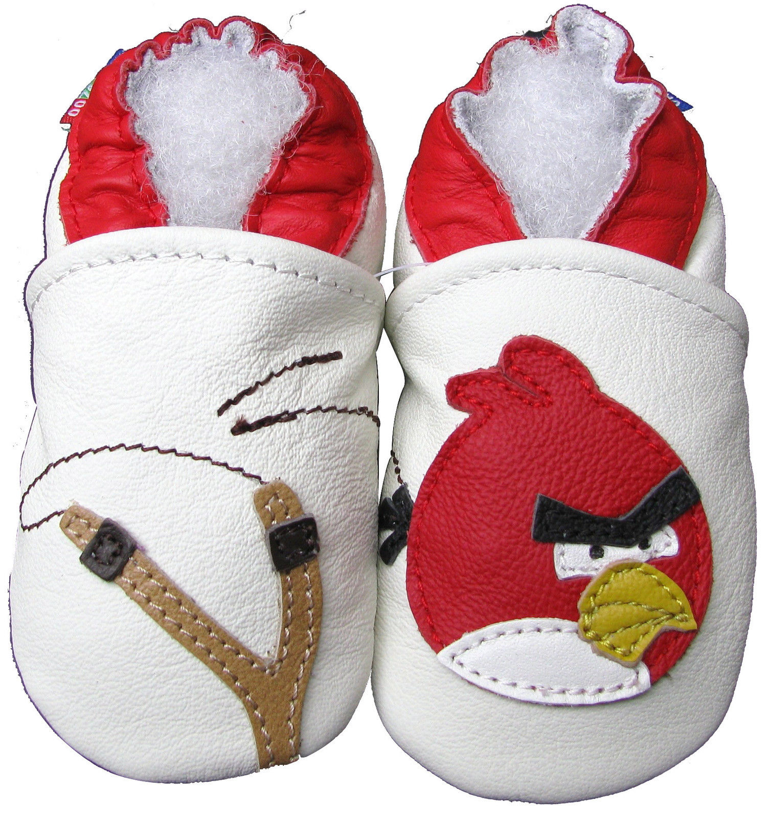carozoo bird slingshot green 12-18m soft sole leather baby shoes
