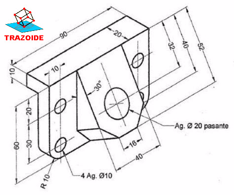 Vista Auxiliar Secundaria Dibujo Tecnico Industrial Linkfreedomy3i 3d Cizimler Egitim Cizimler