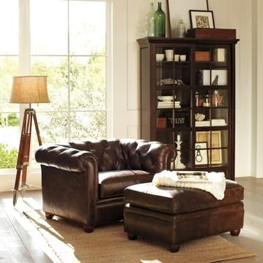 Possible living room option pottery barn chesterfield - Chesterfield sofa living room ideas ...