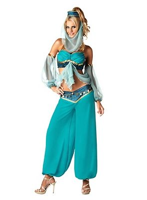 karneval jeannie kostüm damen