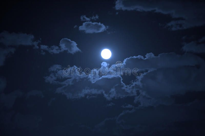 Night Landscape Of The Cloudy Sky And The Moon Spon Landscape Night Cloudy Moon Sky Ad Night Landscape Landscape Stock Images