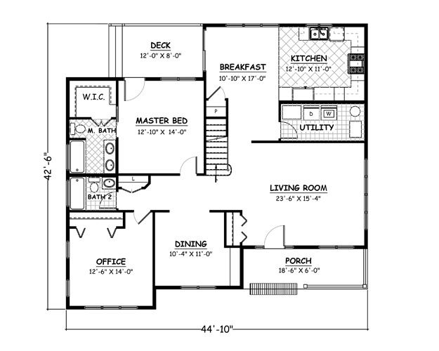 2684 Sf 45x43 6 4 0 2 Story House Plans Floor Plans New House Plans