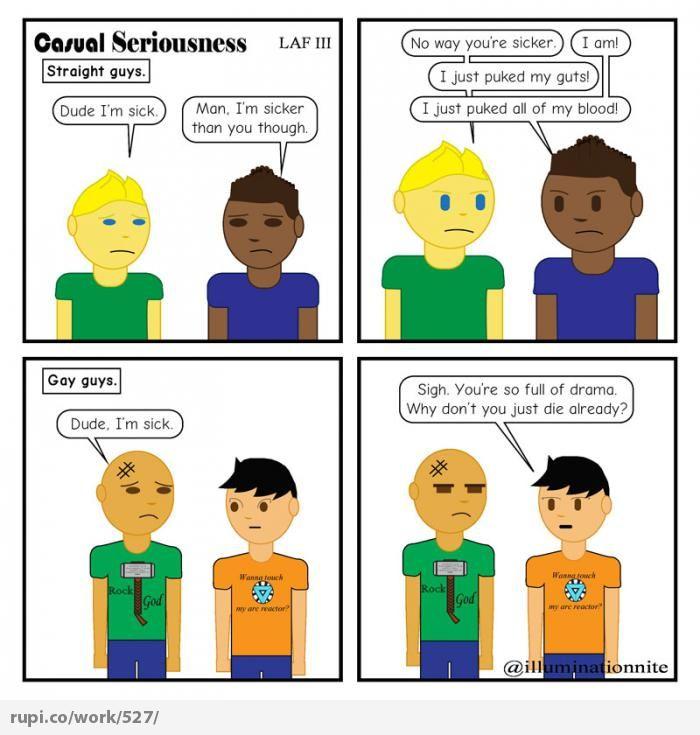 Gay guys vs straight guys