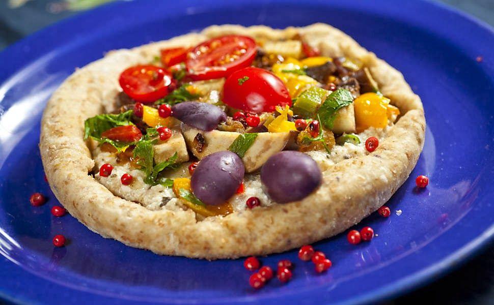 Pizza sem trigo, sem leite e com biomassa de banana verde | Cura pela Natureza.com.br