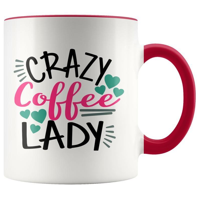 Funny Coffee Mug Crazy Coffee Lady Ceramic Mug Funny Etsy In