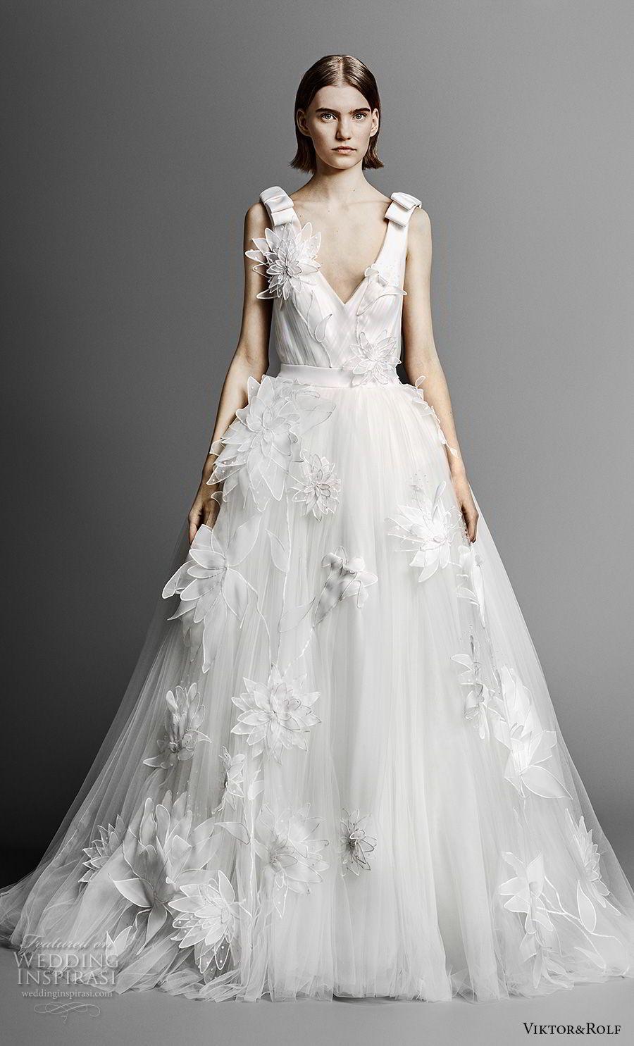 Tulle skirt wedding dress  ViktoruRolf Spring  Wedding Dresses  Tulle skirts Wedding
