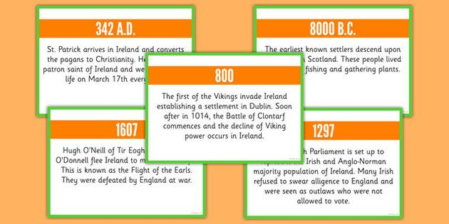 Basic irish history timeline cards basic irish history timeline basic irish history timeline cards basic irish history timeline cards fandeluxe Choice Image