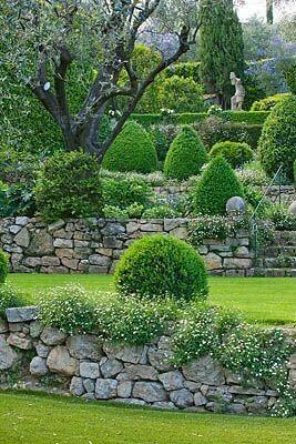 Garten Deko, Haus Und Garten, Naturstein Terrasse, Buecher, Trockenmauer,  Natursteine, Gartenmauern, Buchsbaum, Garten Anlegen