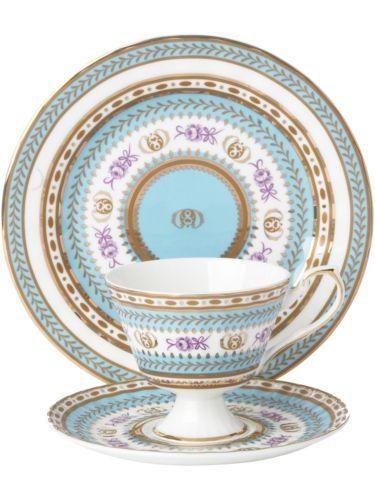 Royal Pembroke Edwards Fine Bone China Turquoise Tea Set From House Of Fraser