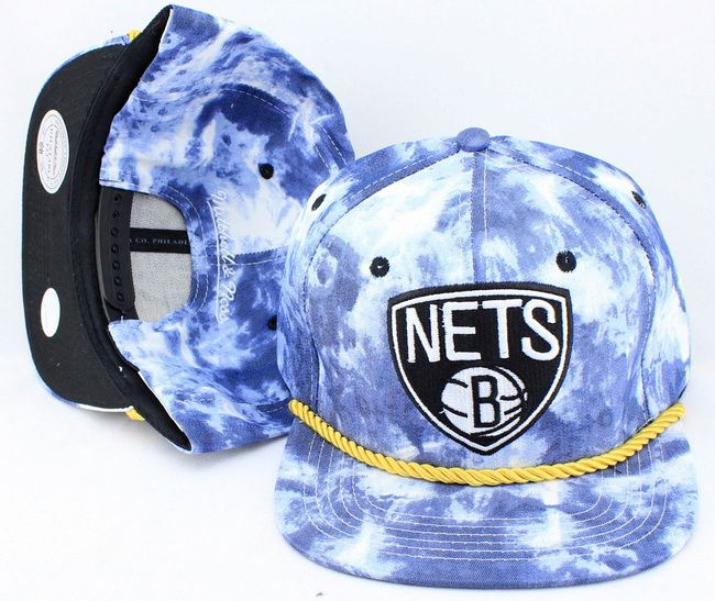 new product 2c6ba fa974 NBA Mitchell And Ness The Blue Acid Wash Denim SNAPBACK NETS 9052! Only   8.90USD