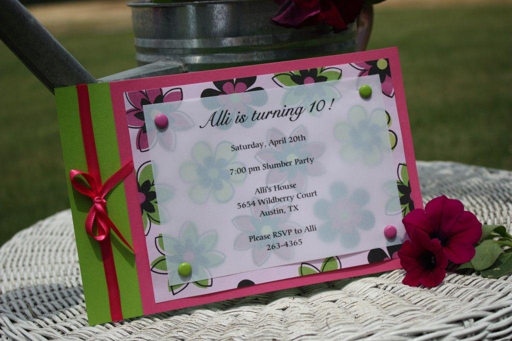 easy-made-invitations-10th-birthday | Invitation ideas ...