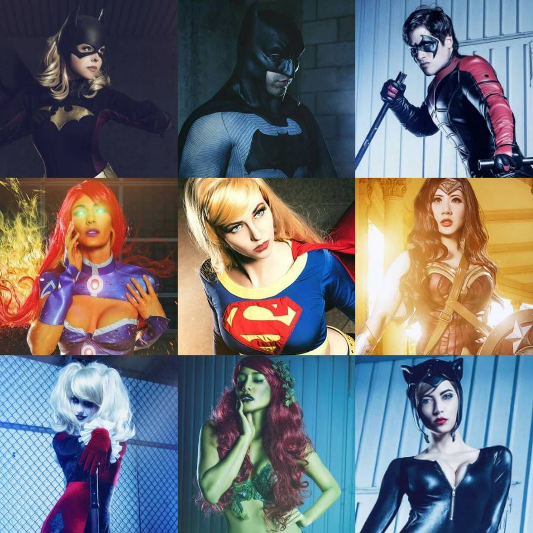 """Also, DC love <3  Batgirl | @courtoon  Batman | @slowfingercosplay  Nightwing | @colintheblur  Starfire | @kat_sheridan  Supergirl | @maidofmight  Wonder…"""