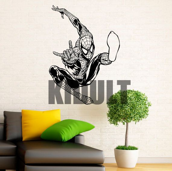 Spiderman Wall Stickers Home Decorations Bedroom Study Room Boy Superhero Vinyl  Wall Decals Wall Art Mural