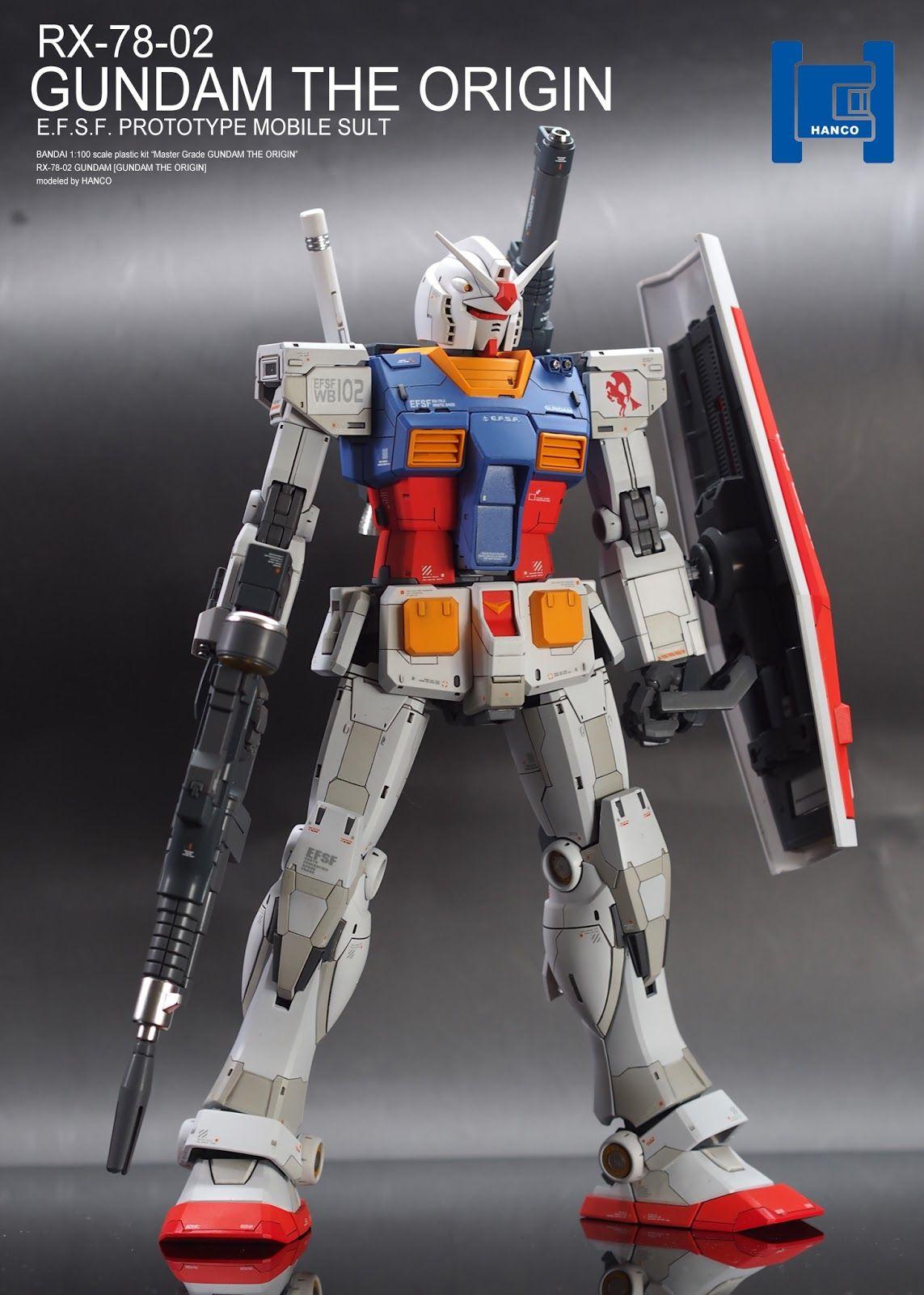 Custom Build MG 1/100 RX7802 Gundam The ORIGIN ver