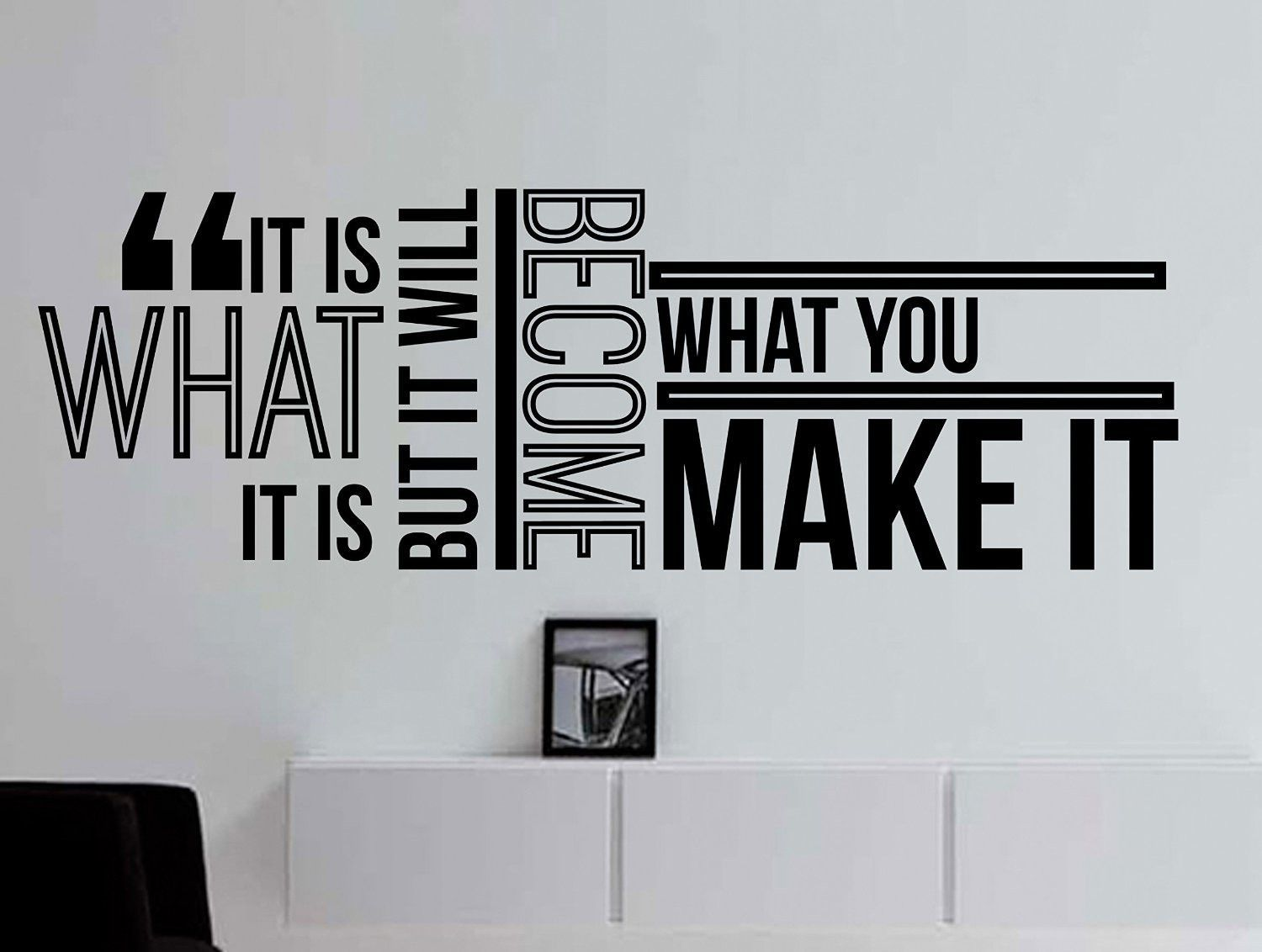 It Is What It Is but It Will Become What You Make It Inspirational  Typography Quote