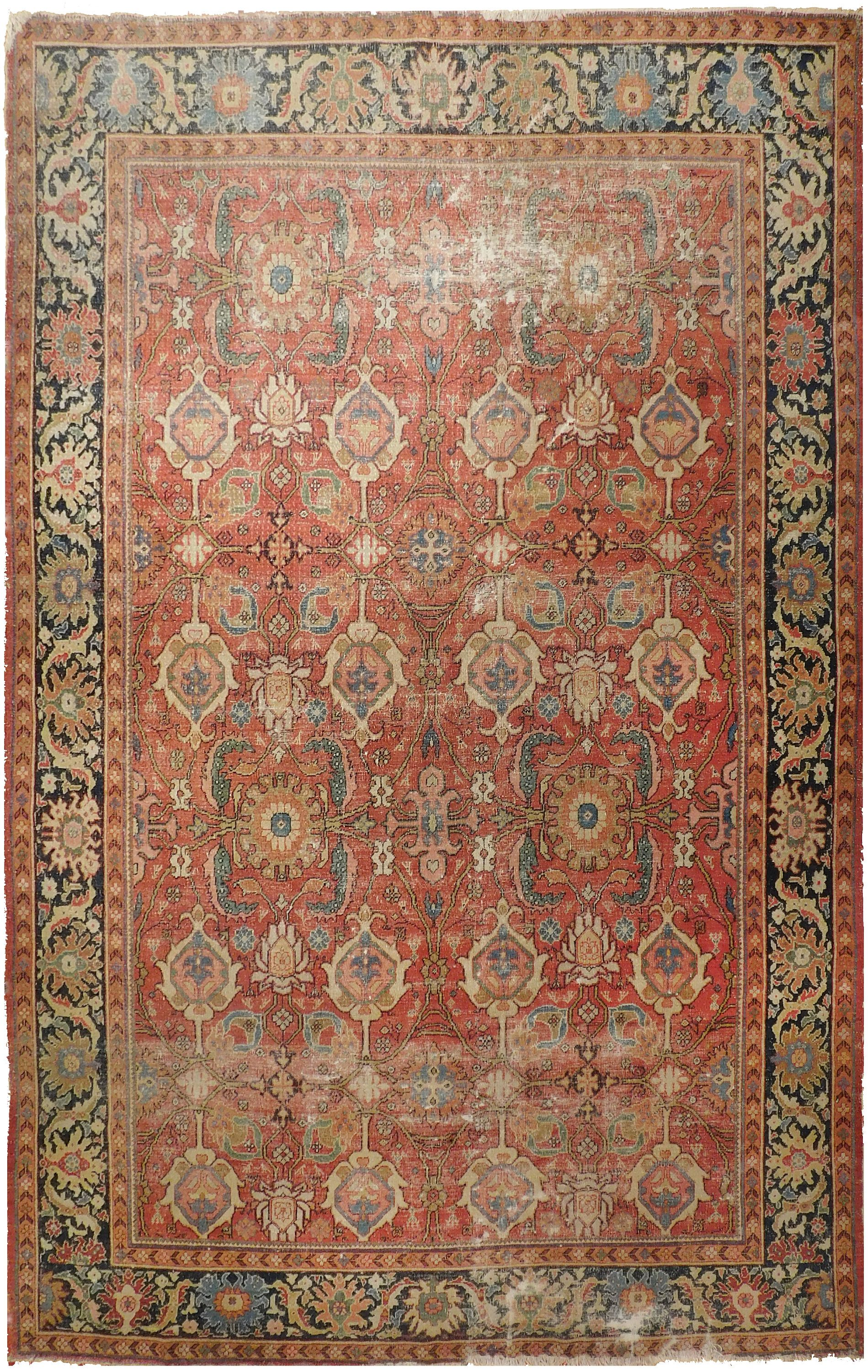 Rug 564 Antique Distressed Persian Ziegler Sultanabad By Nerluxuryrugs On Etsy