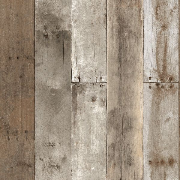 Repurposed Wood Weathered Textured Self Adhesive Wallpaper by Tempaper ($98) ❤ liked on Polyvore featuring home, home decor, wallpaper, backgrounds, wallpaper samples, distressed wood home decor, wood wallpaper, distressed home decor, wooden wallpaper and wood home decor