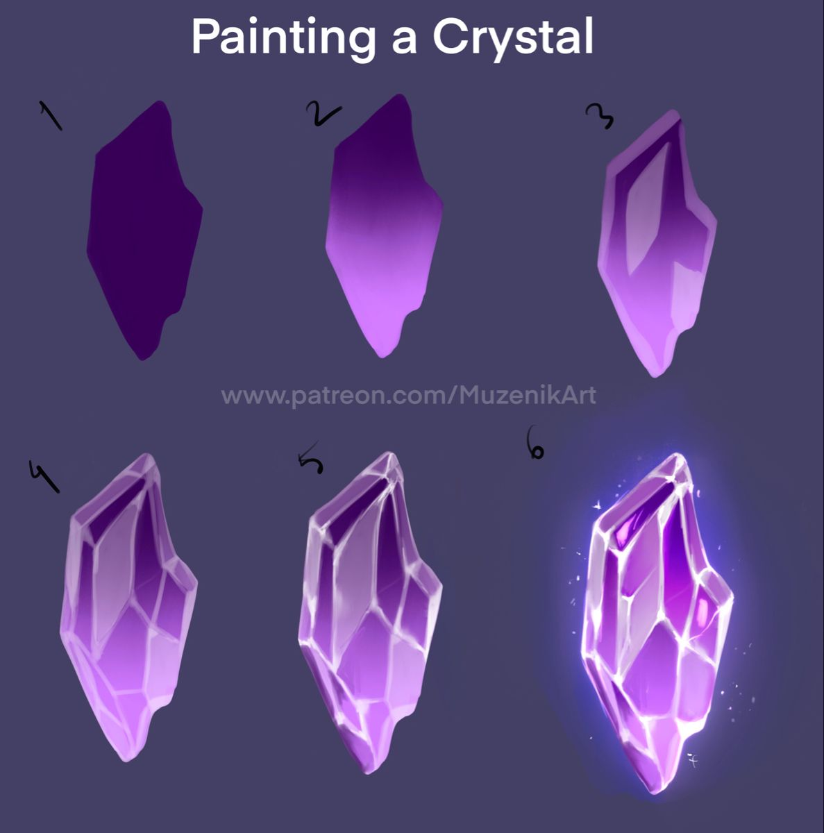 Painting a crystal