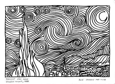 Blue Sparrows Art Club Blog Vincent Van Gogh Starry Night 1889
