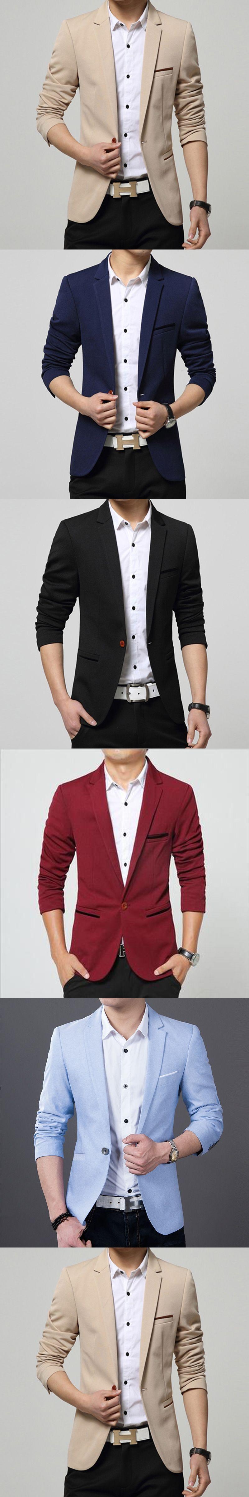 c308a9fe692e74 2017 New Brand Spring Masculine Blazer Men Fashion Slim Fit Suit Men Casual  Solid Color Suit