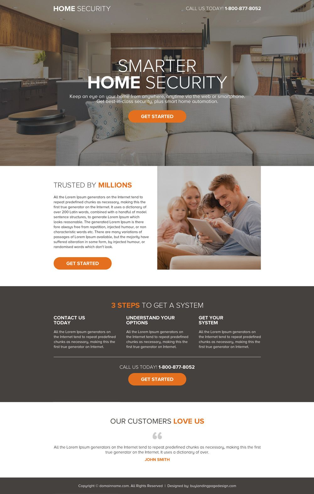 Security Services Mini Call To Action Best Landing Page Best Landing Page Design Landing Page Design Smart Home Security