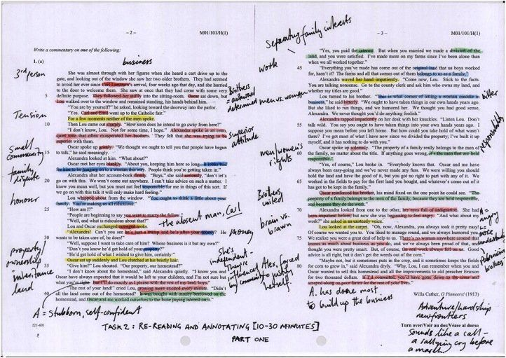 Annotated Text Example Close Reading Pinterest Reading