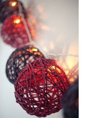 Diy How To Craft A Twine Ball Light Garland Great For Year Round Decor Or As An Inexpensive Christmas Decoration Im Imagining These Done With Jute Twine