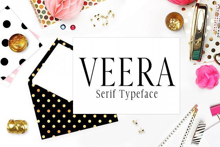 Veera Serif Typeface Beautiful Serif Fonts Serif Typeface Hand