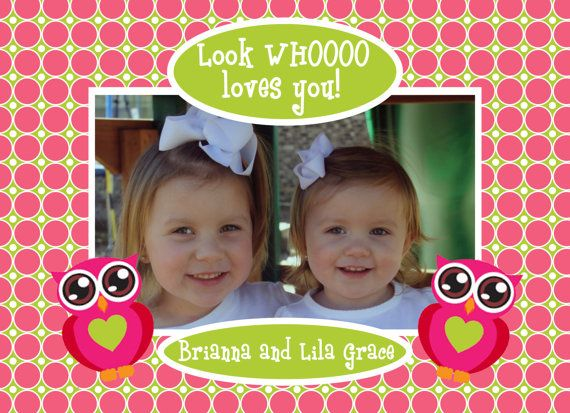 Look WHOOOO loves you Valentines Card by PaisleyPearInvites, $1.50
