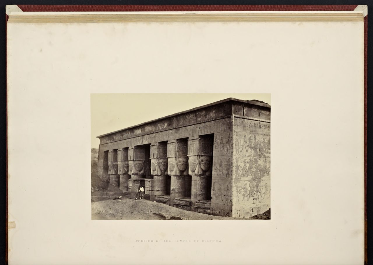 """Francis Frith, """"Portico of the Temple of Dendera"""" from """"Lower Egypt, Thebes and the Pyramids"""" (1862)"""