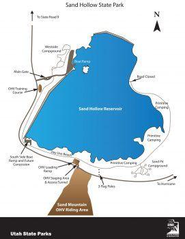 Rv Parks Utah Map.Sand Hollow State Park Map State Parks In 2019 Pinterest Utah