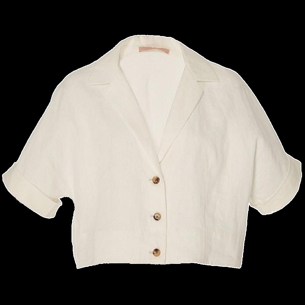 white linen shirt transparent