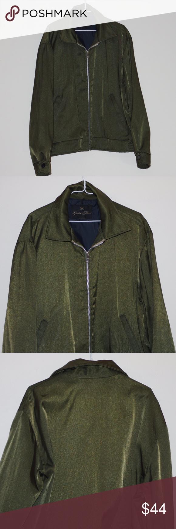 Vintage exc golden fleece forest green bomber vintage