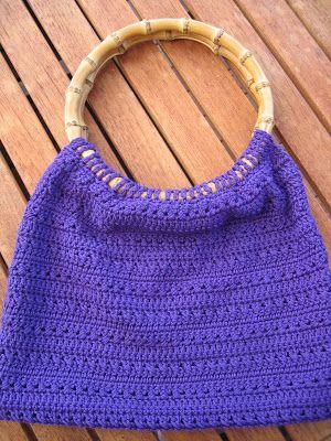 Purse Patterns Free Handle Crochet Bag Bamboo Handles Pattern