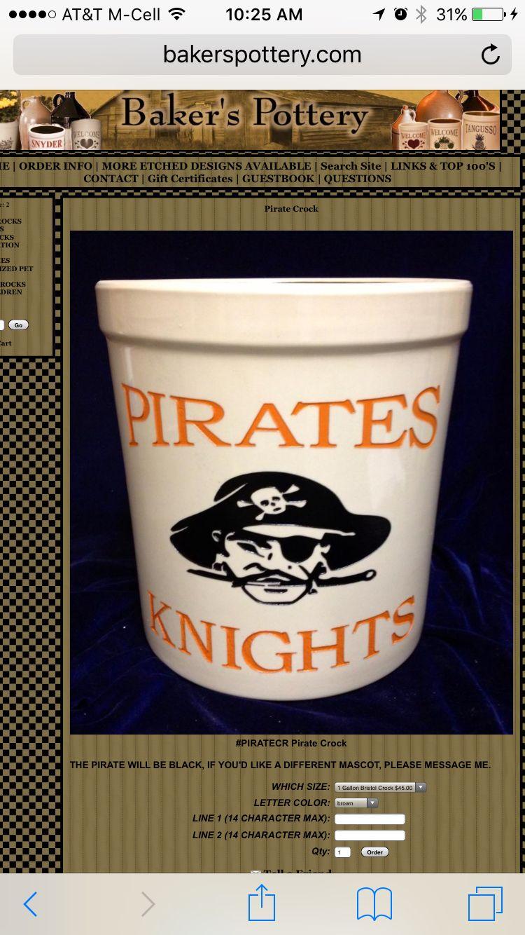 Wheelersburg Pirates Crock