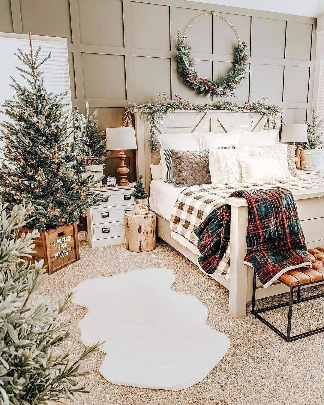 Pin By Angie Miller On Holidays Bedroom Decor Christmas Bedroom Christmas Decorations Bedroom