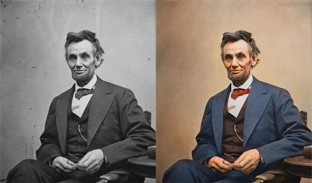 Abraham Lincoln, full color.