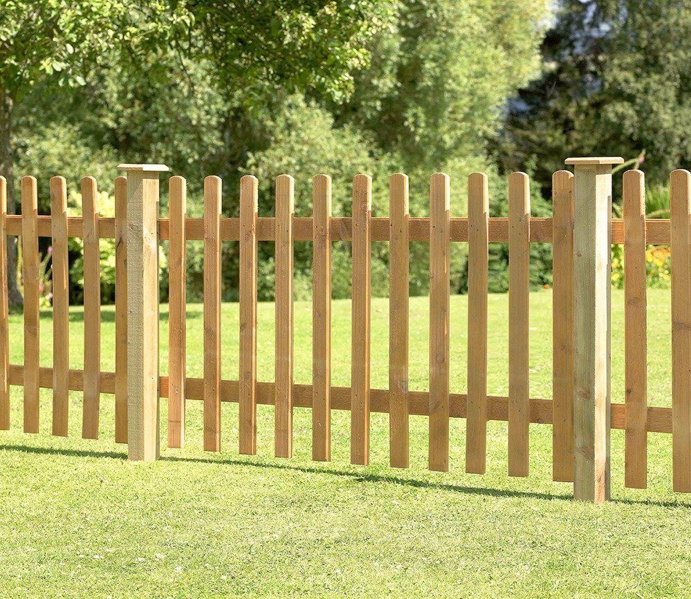 Forest Garden 6ft x 3ft Pressure Treated Heavy Duty Pale Fence Panel