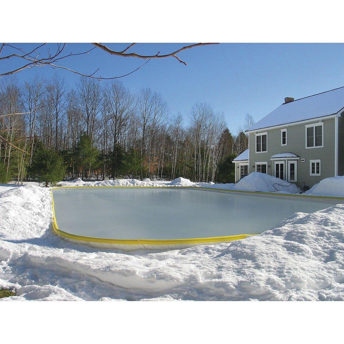 Side Yard Backyard Ice Rink Backyard Rink Ice Rink Backyard ice skating rink kits