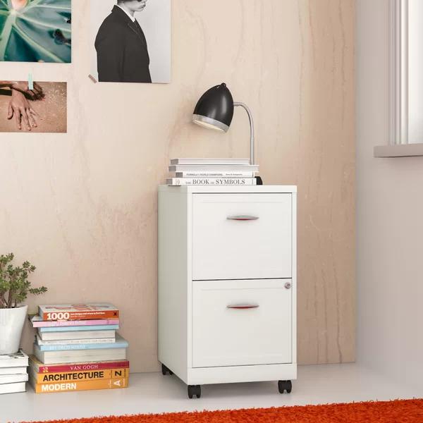 Gigi 2 Drawer Mobile Vertical Filing Cabinet Filing Cabinet