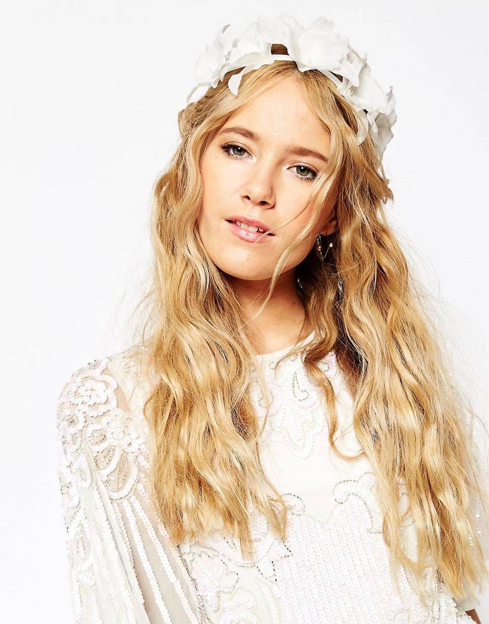 asos wedding lily flower headband | wedding hair | pinterest